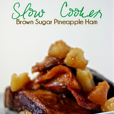 Crock-Pot Brown Sugar Pineapple Ham