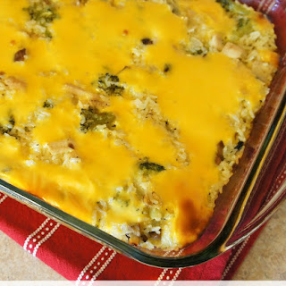 Velveeta Cheesy Broccoli and Chicken Casserole With Rice