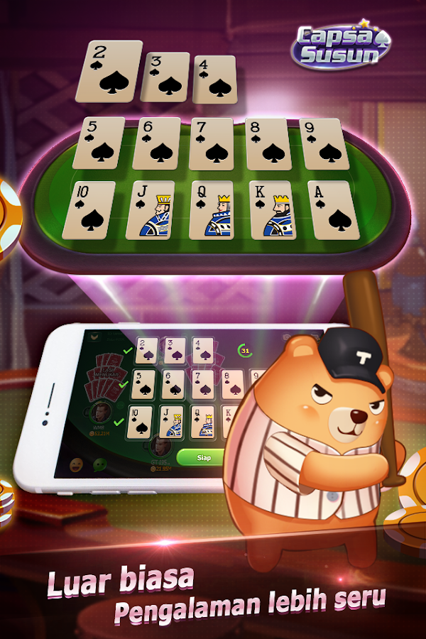 Capsa Susun(Free Poker Casino) Screenshot 2