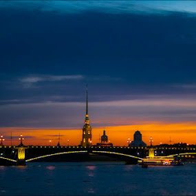Saint-petersburg by Alexey Petrov - City,  Street & Park  Historic Districts ( saint-petersburg, sunset, city )