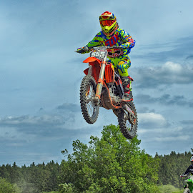 Trple Five by Marco Bertamé - Sports & Fitness Motorsports ( two, motocross, speed, 5, air, number, high, 555, race, noise, jump )