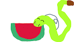 the story of the snake that likes watermelon