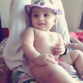 3 month old baby by Chaithra Tholpadithaya - Uncategorized All Uncategorized