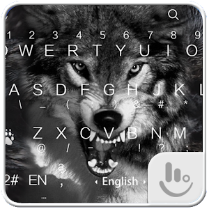 Wild Wolf Keyboard Theme For PC