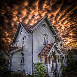 Askim, Norway 135 by IP Maesstro - Buildings & Architecture Homes ( clouds, sky, ip maesstro, hdr, architecture, house, horror, askim, norway )