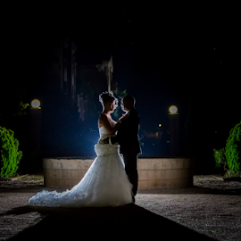 Fountain by Lood Goosen (LWG Photo) - Wedding Bride & Groom ( lood goosen photography, wedding photographers, bridal photos, loodgoosen, best gauteng photographer, bride photos, lwgphoto, best wedding photographers, night photography, groom photos, weddings, groom posing ideas, bride and groom, bride, bride groom, lood goosen, brides, velmore hotel, wedding photographer velmore hotel, lwgphoto.co.za, best wedding photographer in gauteng, lwg photo, wedding, wedding photographer, best weding photographer, velmore photographer, groom )