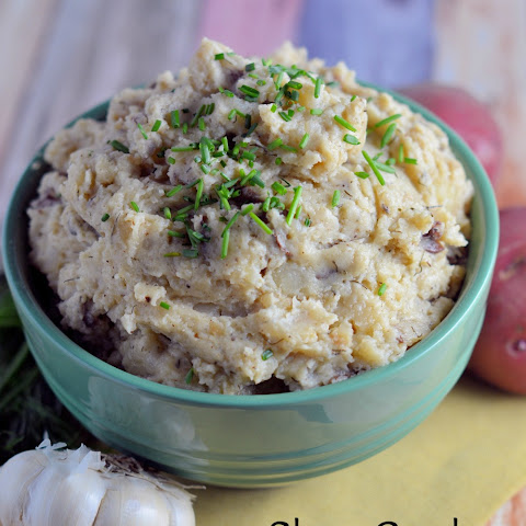 Slow Cooker Garlic Dill Mashed Potatoes