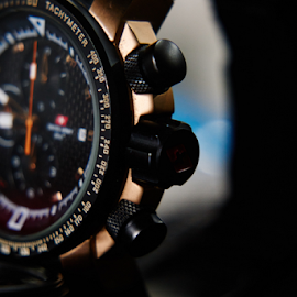 Tachymeter Watch by Alvin Theopilus - Artistic Objects Clothing & Accessories ( macro, time, macro photography, watch, macro shot )