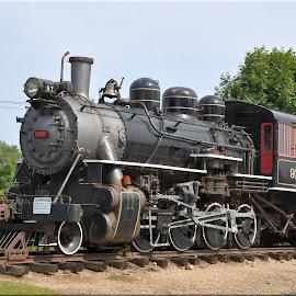 On display by Janice Burnett - Transportation Trains ( steam engine, steam train, nostalgia, historic, steam )