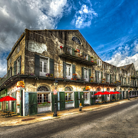 French Quarter 4 by Sheldon Anderson - City,  Street & Park  Historic Districts ( new orleans, french qtr, march, 2015, morning )