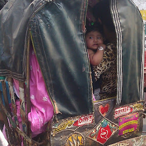 Baby in Riksha by Md Zakir Hossain - Babies & Children Babies