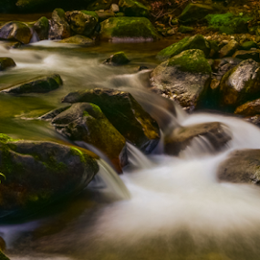 Peaceful Easy Feeling by Mark Turnau - Nature Up Close Rock & Stone ( water, peaceful, waterscape, cascade, rocks )