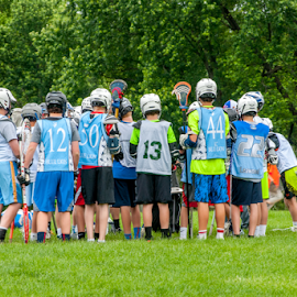 Lacrosse Team by Dave Clark - Sports & Fitness Lacrosse ( players, sport, lacrosse, huddle )
