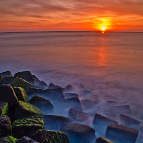 sinking cube by Nopri M - Landscapes Waterscapes