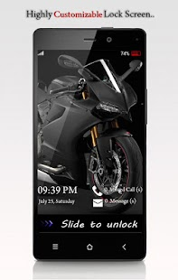 Byke Lock Screen - Racing Bike - screenshot