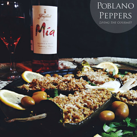 Stuffed Pablano Peppers with Mia Rosé