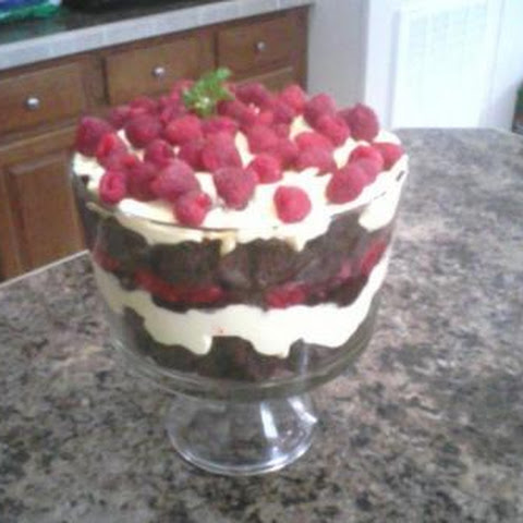 Chocolate Raspberry Creme Trifle