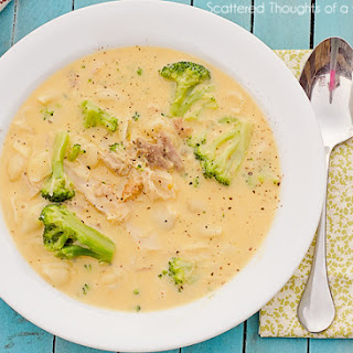 Easy Mac and Cheese Soup with Broccoli and Chicken