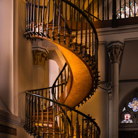 Miraculous Staircase by B Grant - Novices Only Objects & Still Life ( gothic, church, staircase, chapel, architecture, loretto chapel, new mexico )