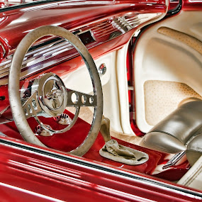Classic in RED by Susan Foss - Transportation Automobiles