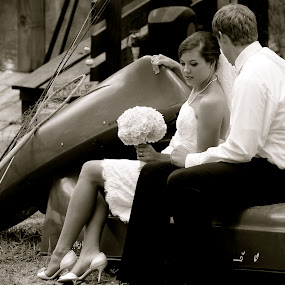 The I Do Canoe by Sarah Brouckaert - Wedding Bride & Groom
