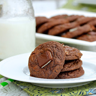 Chocolate Andes Mint Chip Cookies