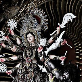Durga...! by Akash Islam - Artistic Objects Other Objects