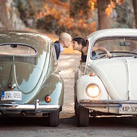 Kiss 5759  by Keith Darmanin - People Couples ( countryside, lovers, vintage, photography, kitzklikz, love, kiss, beatle, kitz klikz, malta, cars, wedding, keith darmanin, engagement )