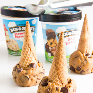 Cookie Dough Ice Cream Cones