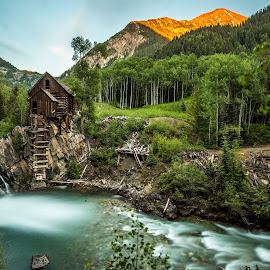 CRYSTAL MILL , CO by Liam Vo - Landscapes Mountains & Hills ( mill, sunset, colorado, summer, crystal )