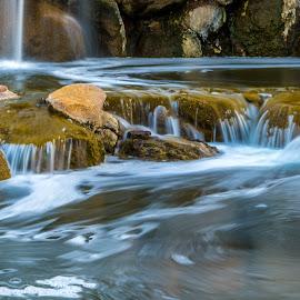 by Ken Mickel - Landscapes Waterscapes ( water, outdoors, arizona, waterfall, landscape, goodyear arizona, estrella, photography )