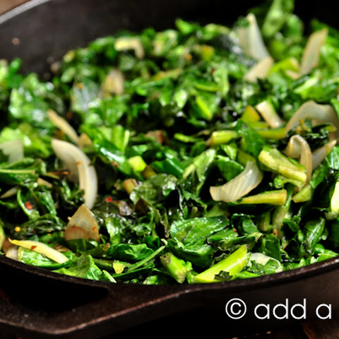 Spicy Skillet Turnip Greens