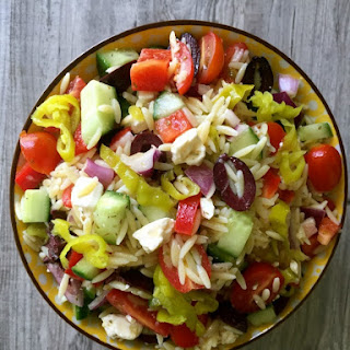 Greek Pasta Salad With Orzo And Feta Cheese Recipes