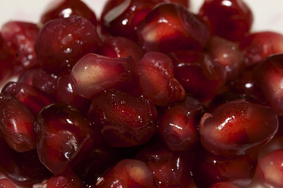 Pomegranate Seeds. by Chris Taylor - Food & Drink Fruits & Vegetables ( fruit, juicy, macro, red, pomegranate, food, seeds, close up )