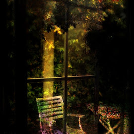 window abstract by Peter Ching - Digital Art Abstract