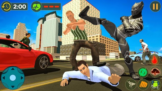 Panther Superhero Rescue Mission Crime City Battle
