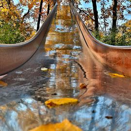 The Slide by Cal Brown - Artistic Objects Other Objects ( other objects, playground, state park, equipment, artistic object, new york, slide )