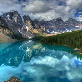 blue lake by Cornelis Weisshaar - Landscapes Mountains & Hills ( water, mountain, forest )