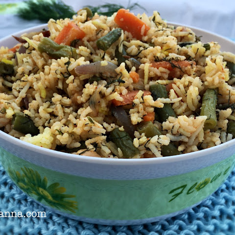 Dill leaves and Chickpea Rice
