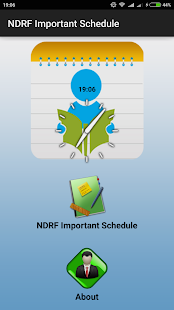 NDRF Important Schedule - screenshot
