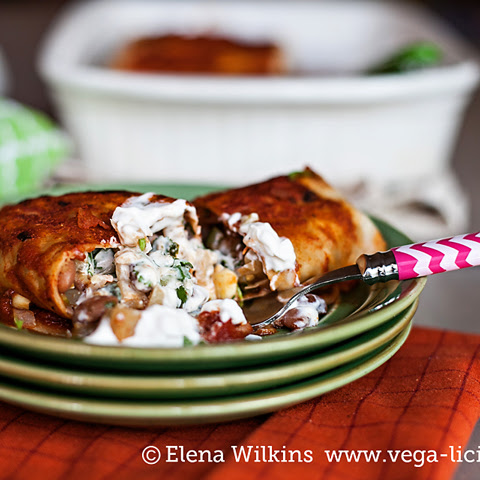 Low Free Vegan Bean Enchilada