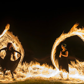 Don't fear the flames by Tyler Hofelich - Abstract Light Painting ( canon, light painting, ohio, still, night, light, fire )