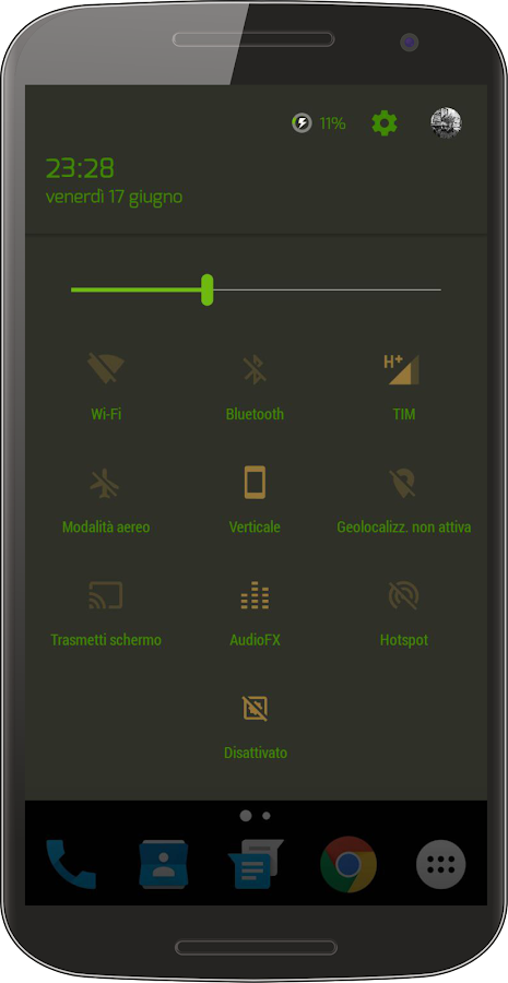 Bamboo Dark CM Theme Screenshot 3