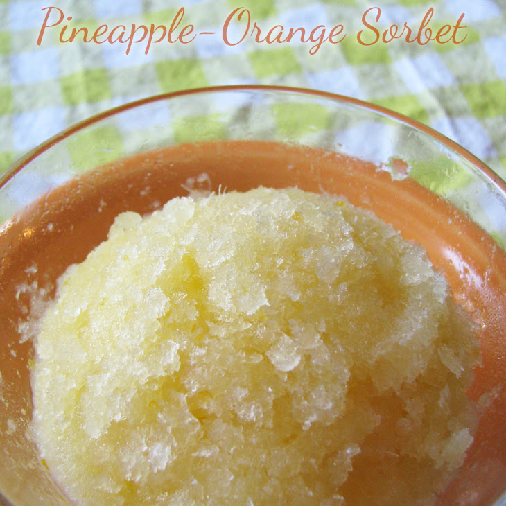 Pineapple-Orange Sorbet Recipe | Yummly