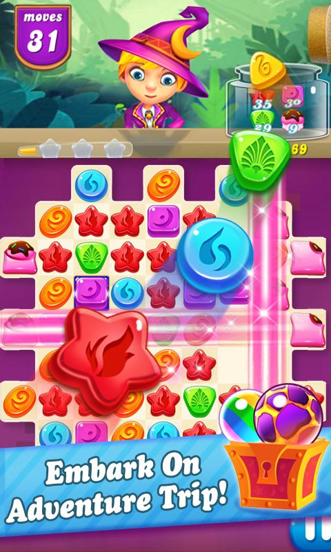Candy witch : Halloween party Screenshot 1