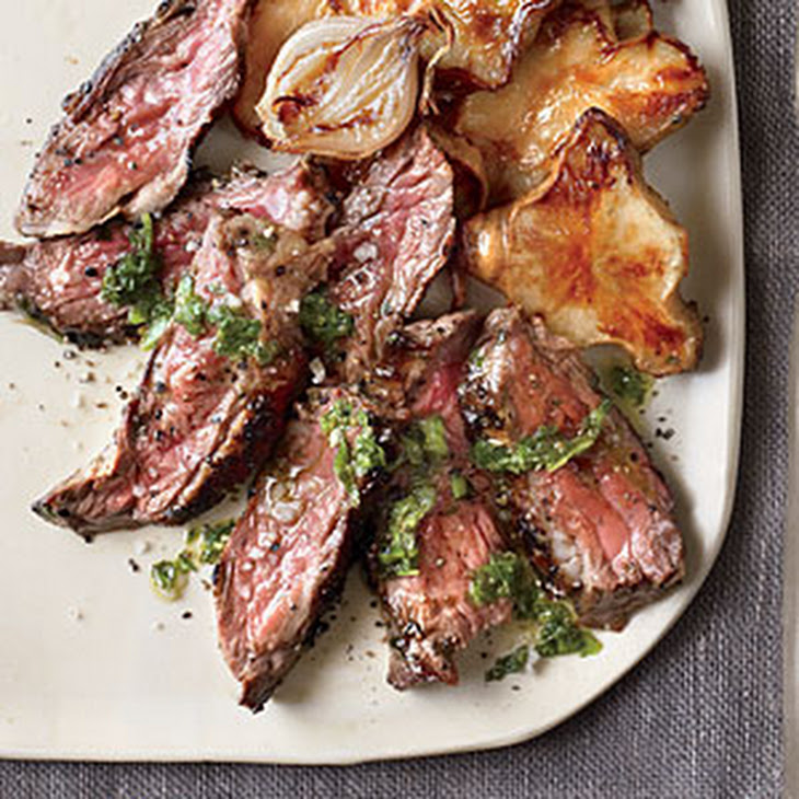 Grilled Steak With Roasted Jalepeno Chimichurri Recipes — Dishmaps