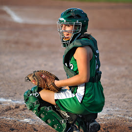 Catcher by Tom Vogt - Sports & Fitness Other Sports ( catcher, green, softball )
