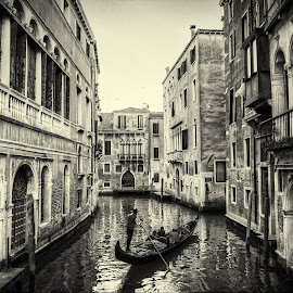 Venice  by Fernando Ale - Black & White Buildings & Architecture ( venice, gondola )