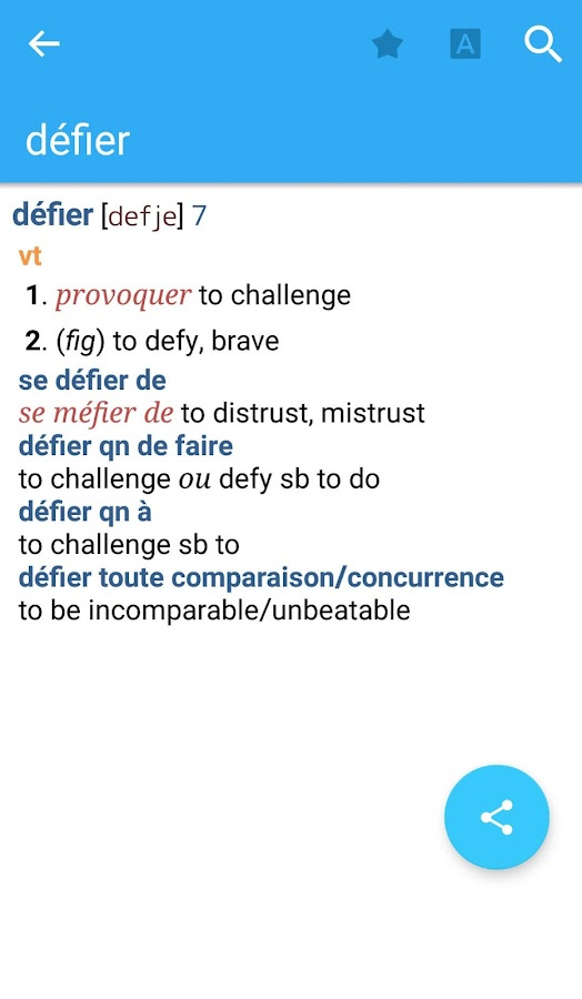 Collins French Dictionary Screenshot 2