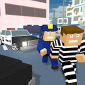 Game Blocky Cop Craft Running Thief APK for Kindle